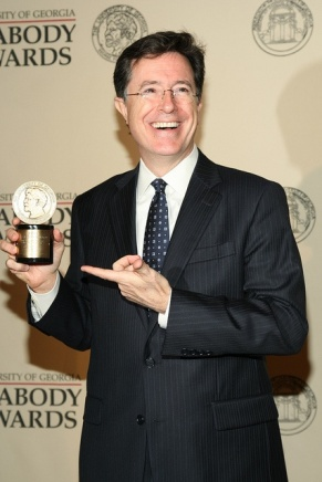 Stephen Colbert with Peabody Award
