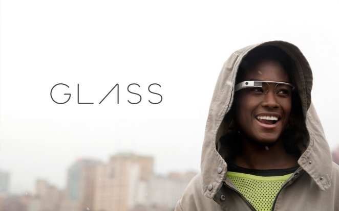 Image of Google Glass on model.