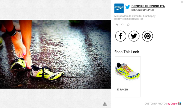 Screenshot Pinterest Olapic Brooks shoes