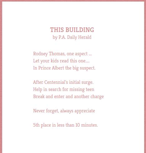 Poem Twitter Saskatchewan