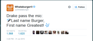 Whataburger tweet Drake