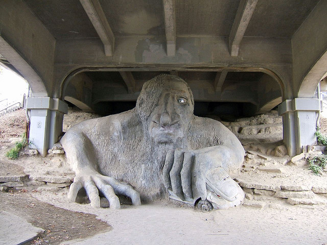 A troll under a Seattle bridge